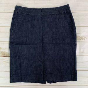 Denim pencil skirt lookalike denim Ann Taylor LOFT